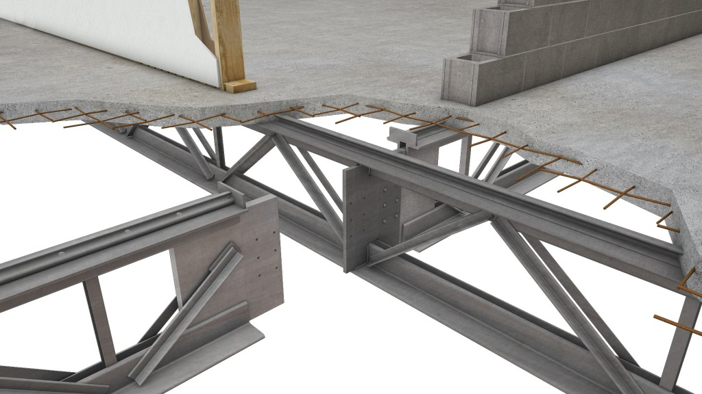 Hambro composite floor system canam buildings Floor joist trusses