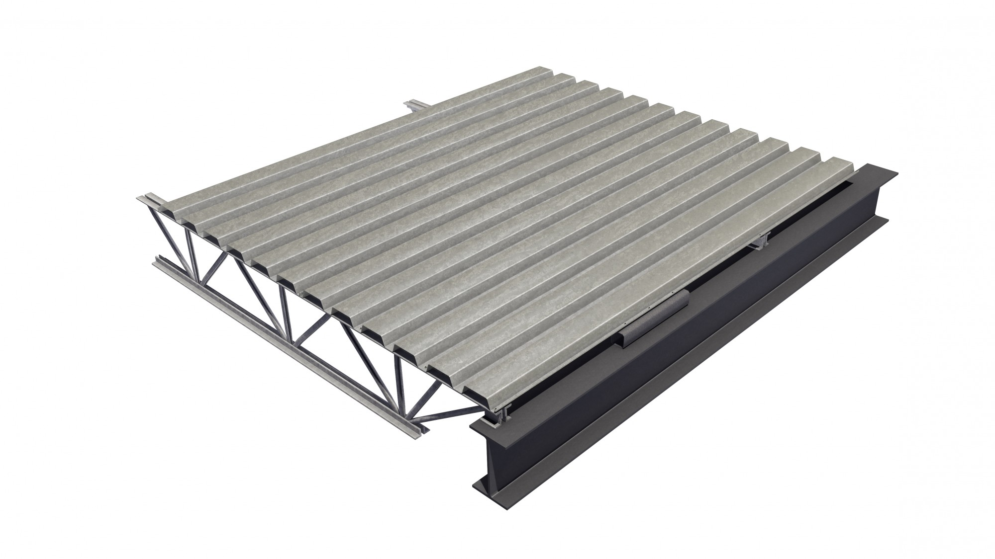 Steel Deck Is A Cold Formed Corrugated Steel Sheet Canam